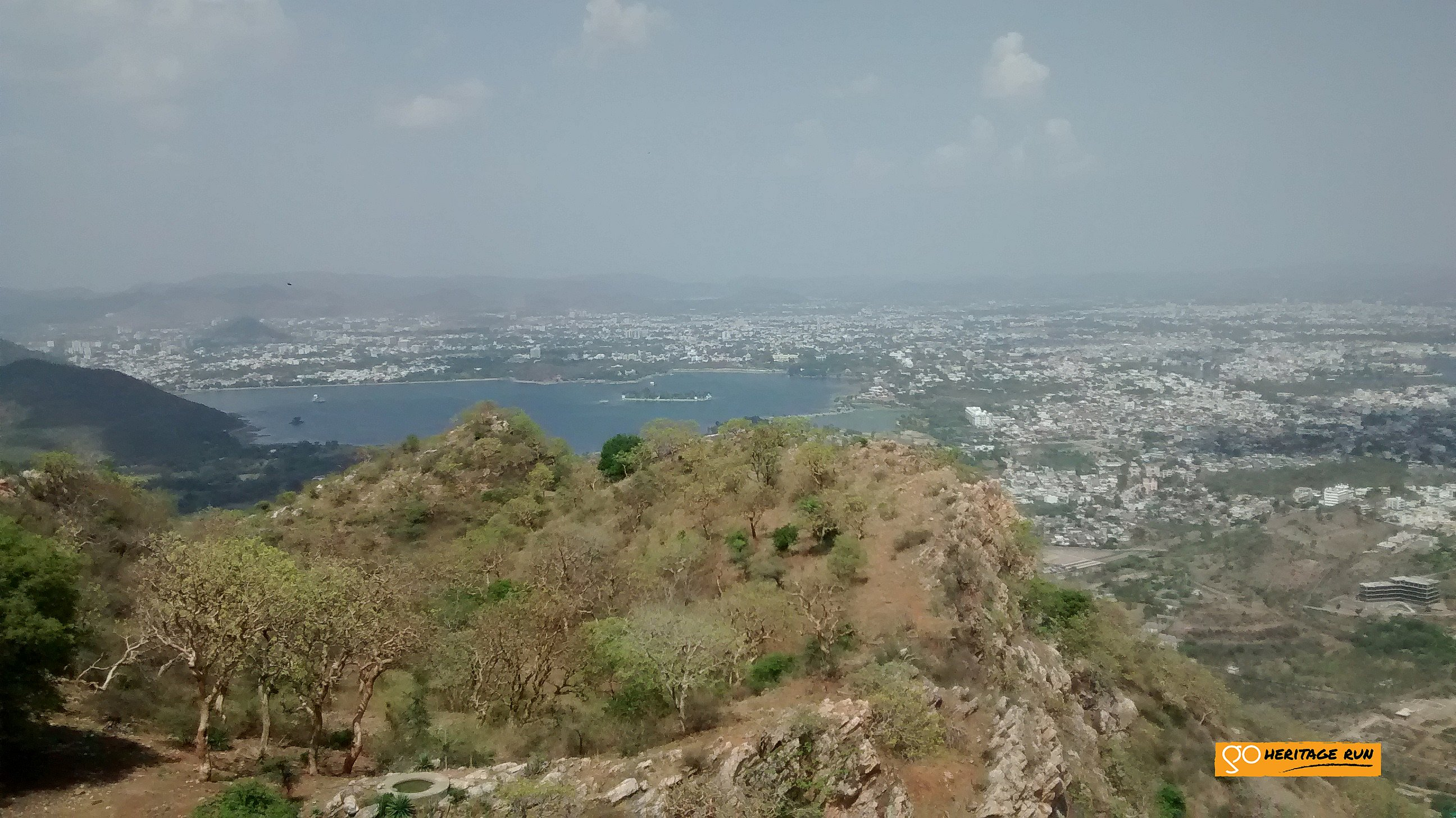Udaipur from Sajjangarh fort