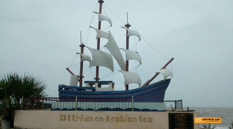Diu-fun on arabian sea