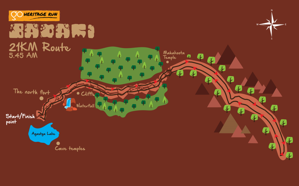 Badami 21K Run Route