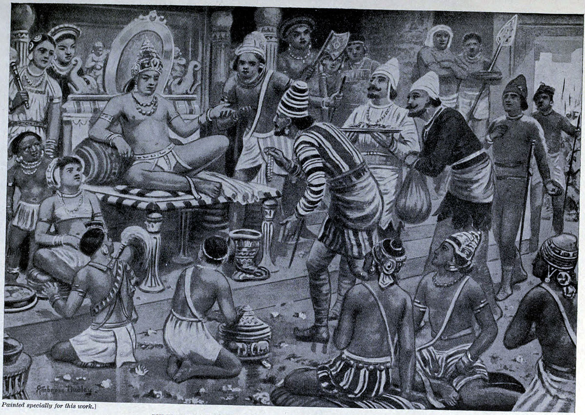 Pulikesin_II,_the_Chalukhaya,_receives_envoys_from_Persia,
