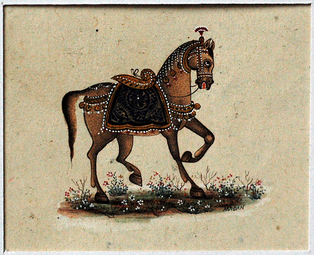 Horse, miniature painting