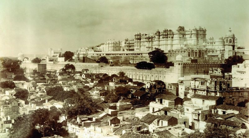 The eastern façade of the City Palace complex, Udaipur c. 1910