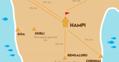 Hampi location map