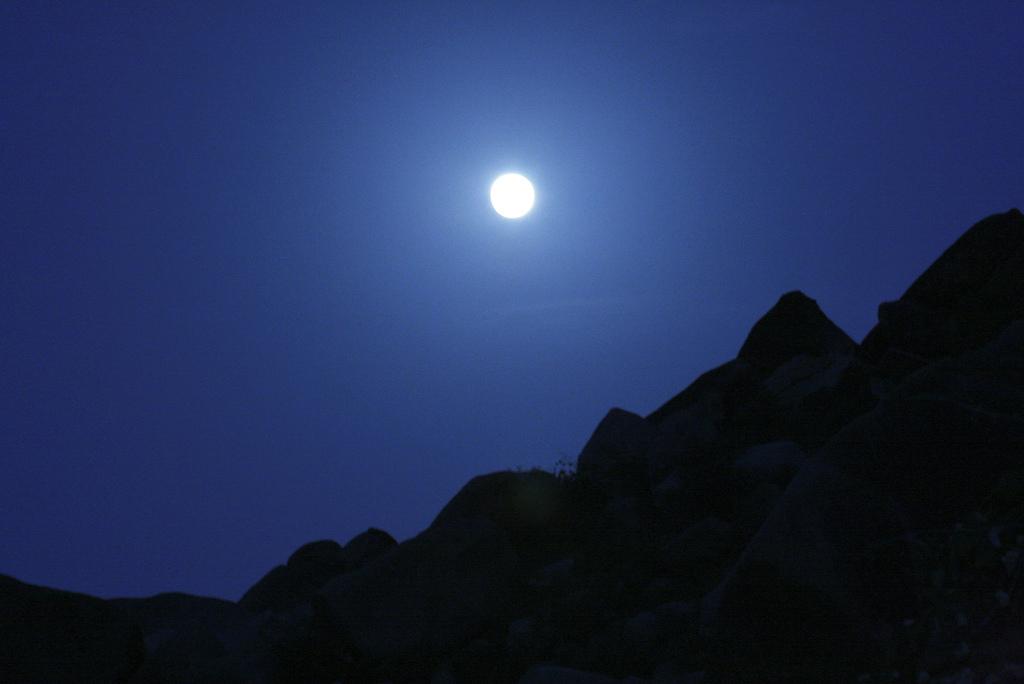 Moon Rise admist the Boulders-Madhavi Kuram