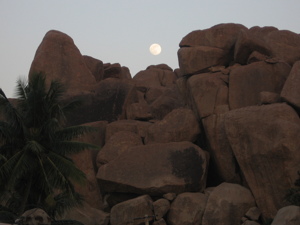 Moon on rocks-Praveen Tirumandyam