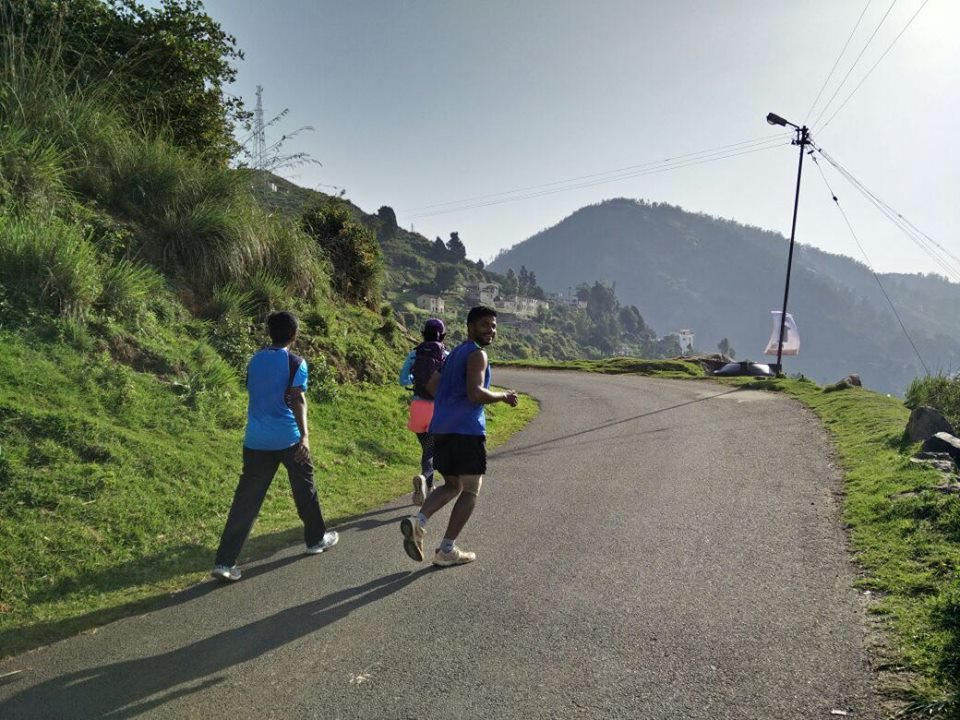 Running Uphill at the Go Heritage Run in Ooty