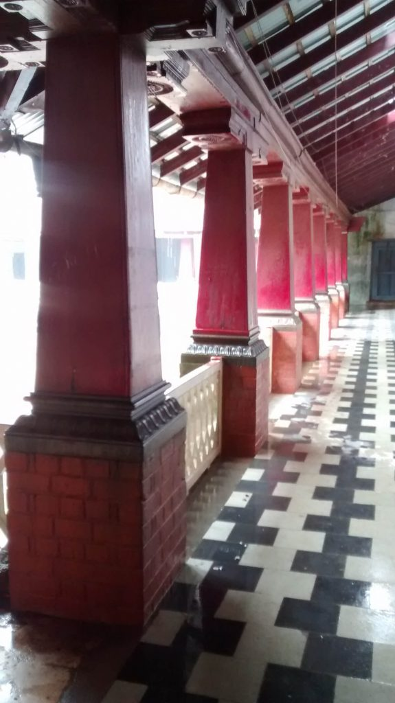 Pillars inside the Madikeri fort complex