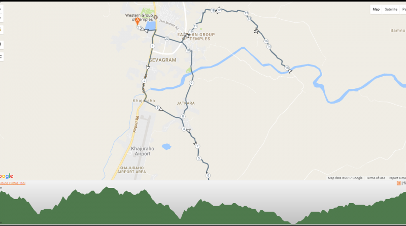 21K Khajuraho run Route