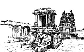 Hampi Drawing