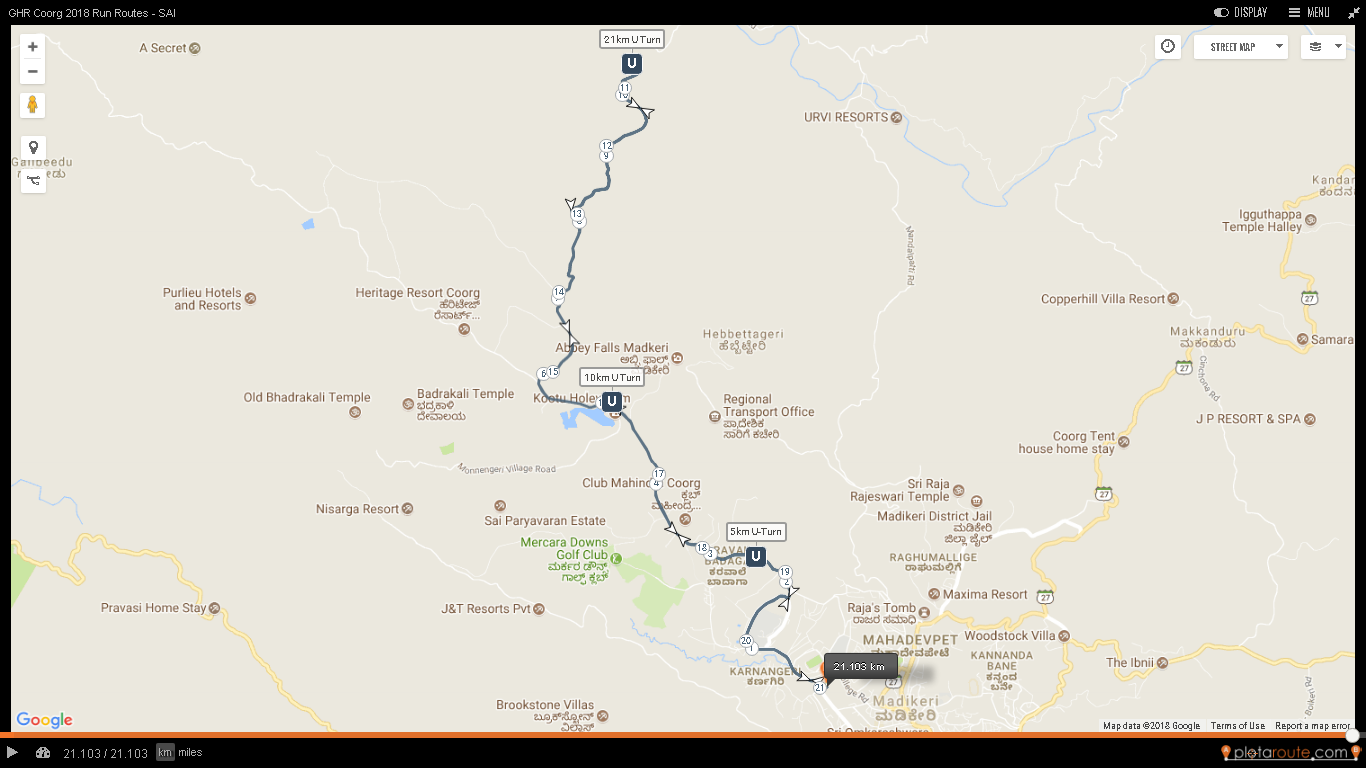 ghr coorg run routes