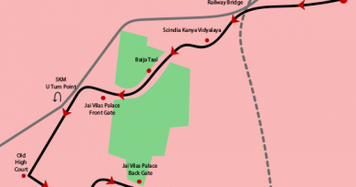 go heritage run gwalior run route map