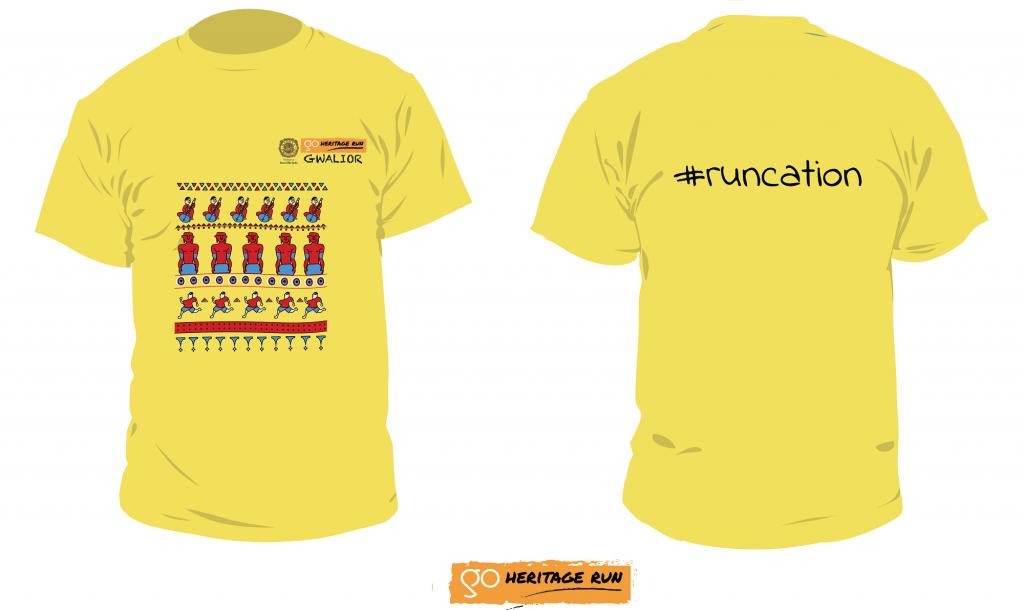 Gwalior 2019 run t-shirt
