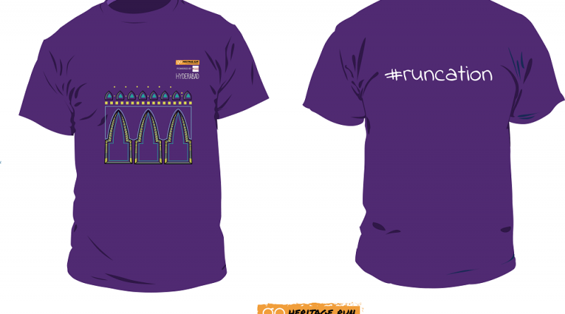 Go Heritage Run Hyderabad 2019 Run T-shirt