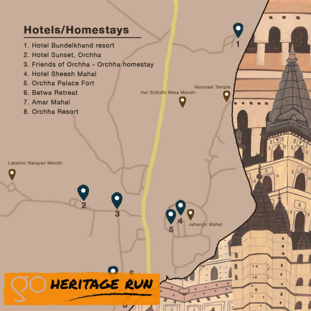Orchha Hotels and Homestays