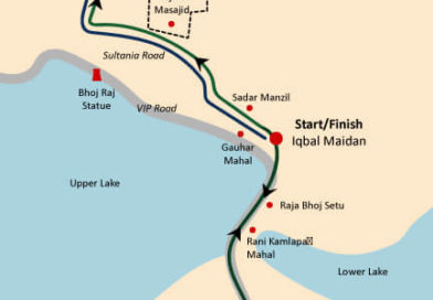 ghr bhopal run route map