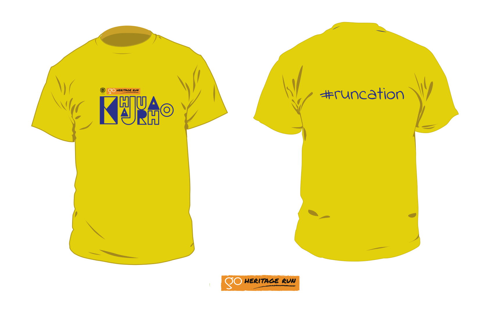 Go Heritage Run Khajuraho 2020 tshirt