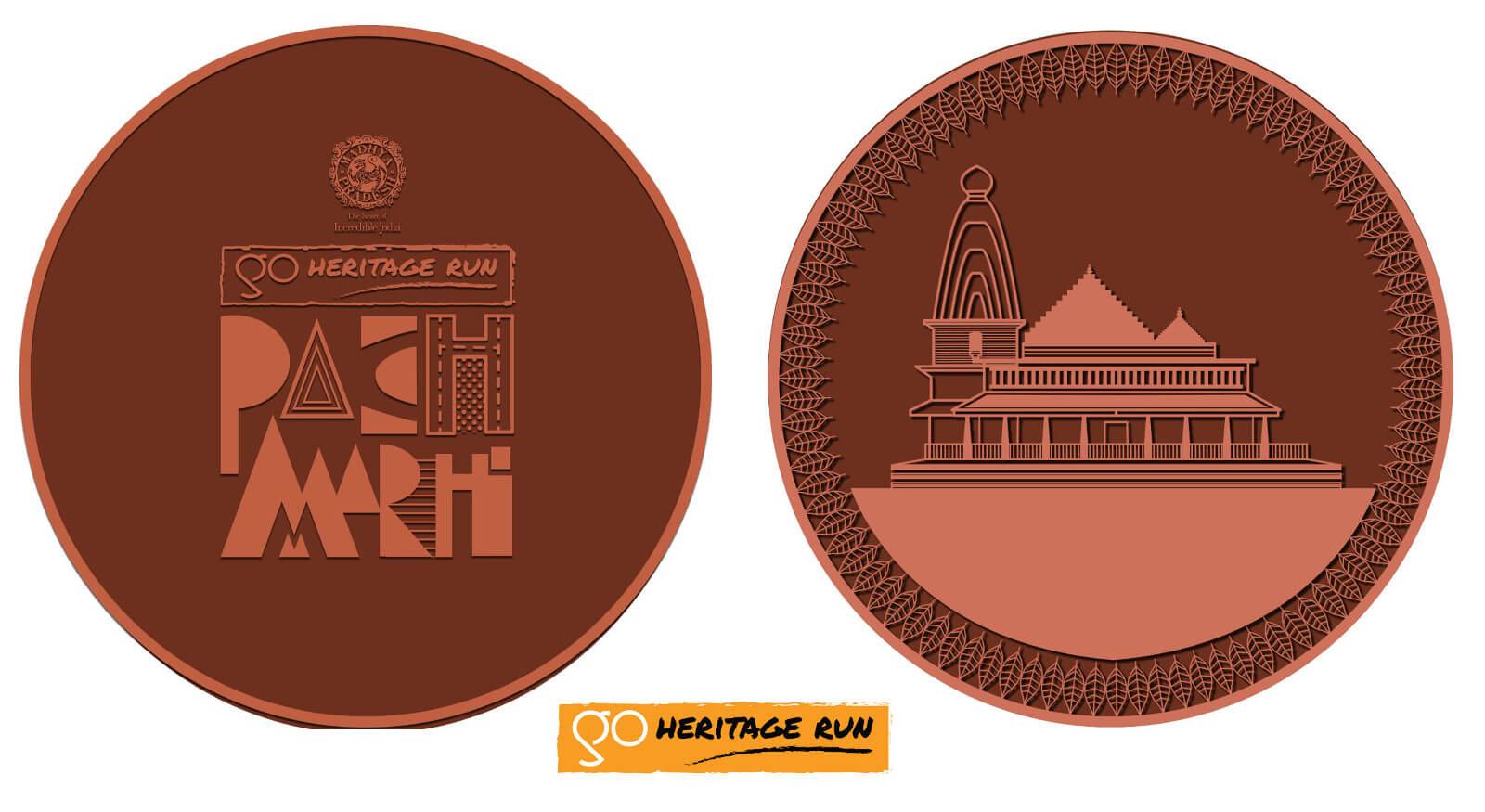 Go Heritage Run Pachmarhi 2020 medal