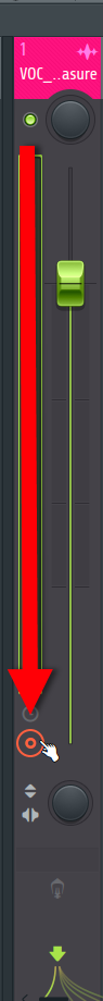 How to Bounce Tracks in FL Studio_3 - FL Studio Mixer Track Arm Disk Recording