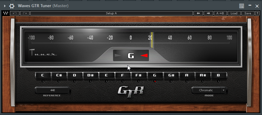 Find the Pitch of a Kick Drum Sample using Waves GTR Tuner in FL Studio - Waves GTR Reading