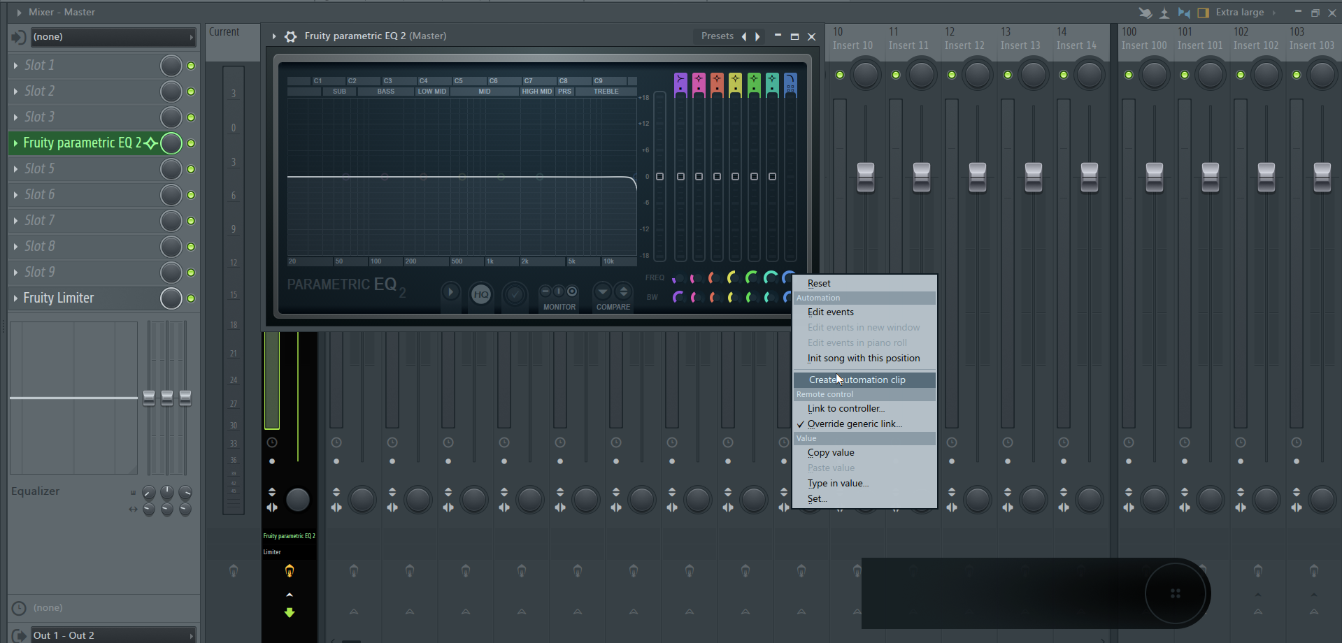How to Make an Automation Clip in FL Studio_2 - Freq Automation