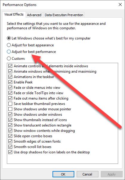 Improve FL Studio Performance on Windows_05 - Adjust For Best Perfomance
