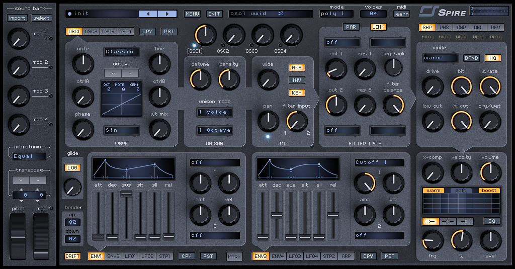 How to Make a Sub Bass in Spire_01 - INIT