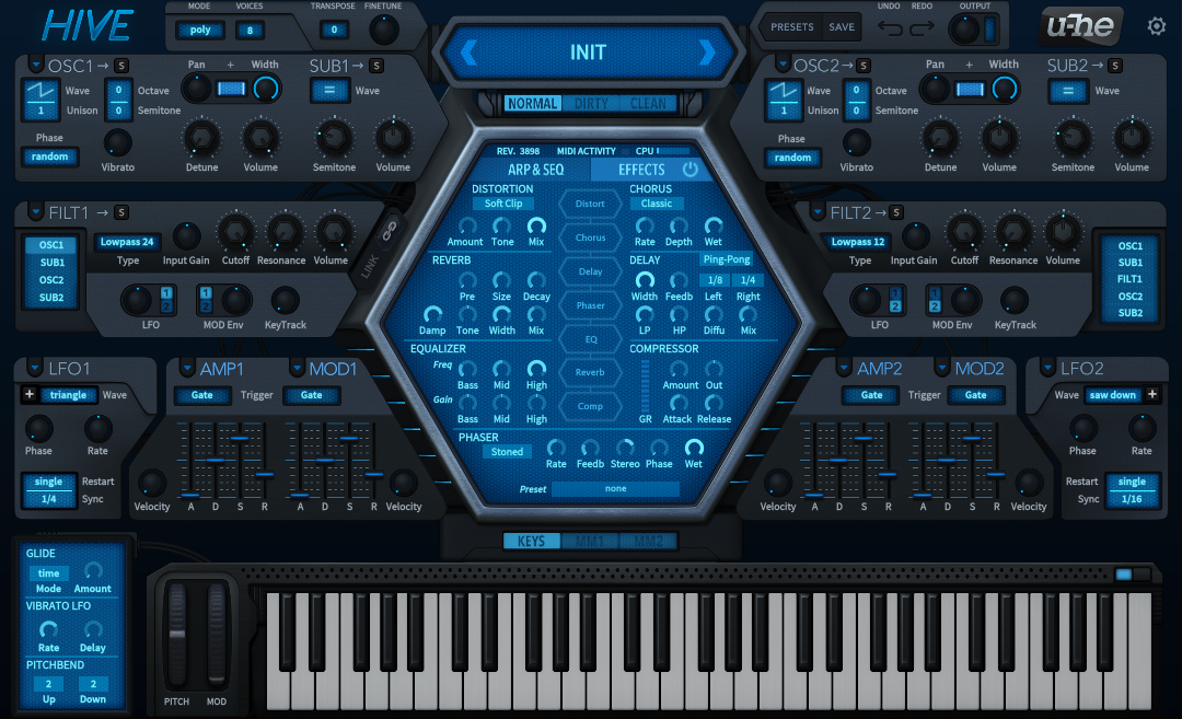 How to Make a Sub Bass in u-he Hive_01 - INIT