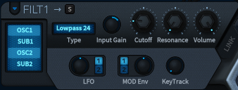 How to Make a Sub Bass in u-he Hive_05 - Filter 1