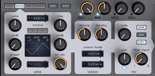 How to Make an Analog Funky Synth Bass in Spire_03 - OSC2