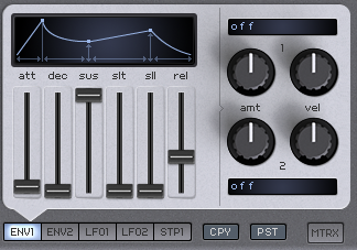 How to Make an Analog Funky Synth Bass in Spire_05 - AMP ENV