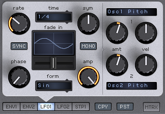 How to Make an Analog Funky Synth Bass in Spire_10 - LFO to Osc Pitch