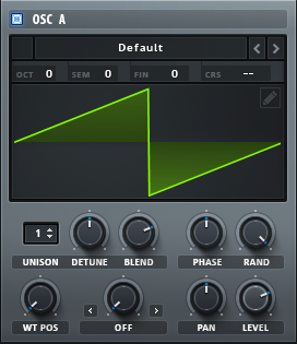 OSC A - Funky Synth Bass in Serum
