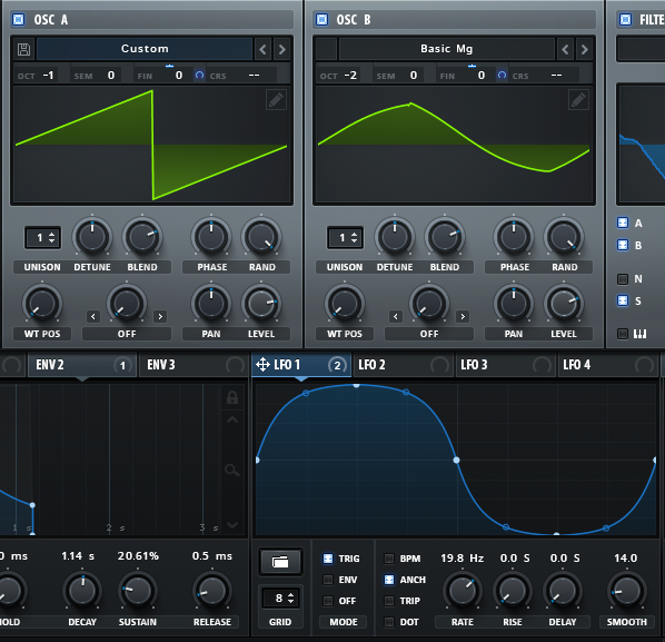 10 - LFO1_how to make a funky synth bass in Serum