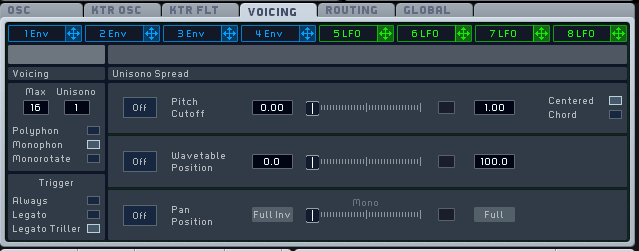 How to Make a Sub Bass in Massive_04 - Voicing Tab
