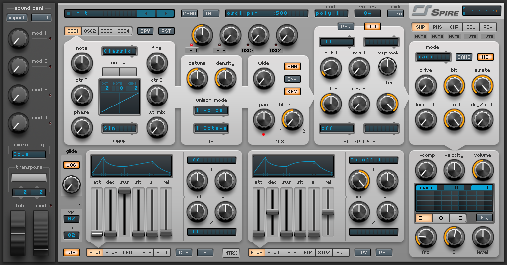 How to Make an Electric Piano in Spire_01 - INIT