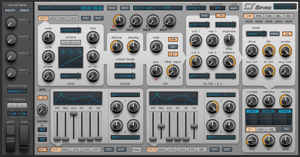 How to Make a Funky Worm Synth in Spire_01 - INIT