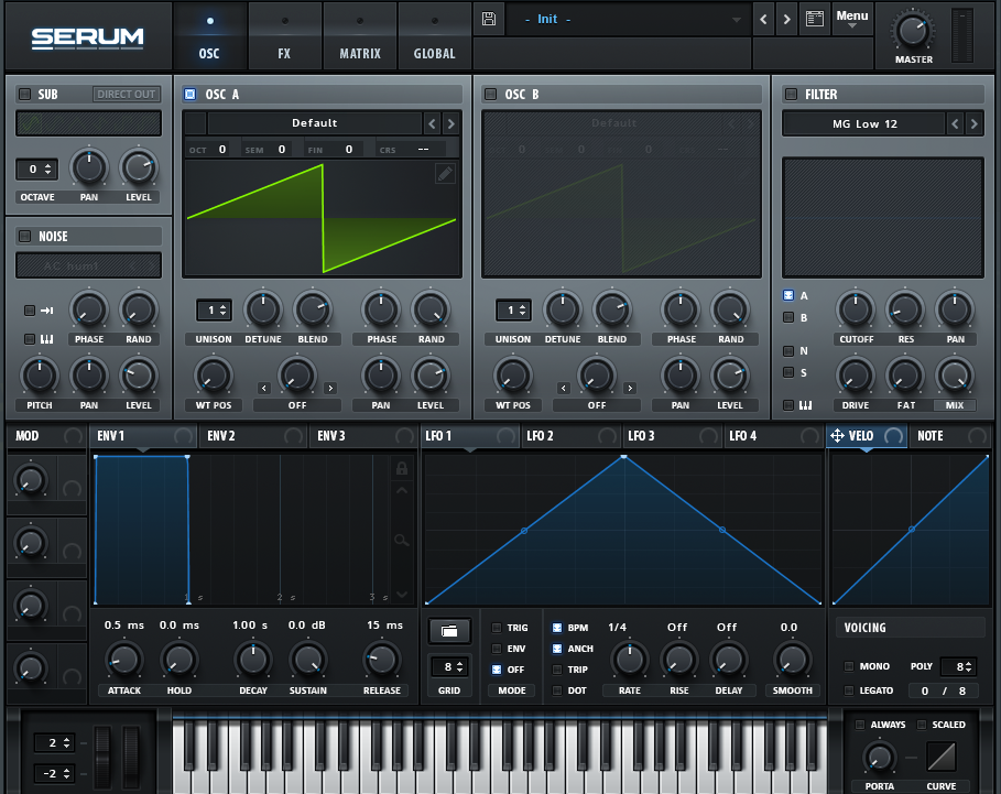 How to Make a Hip Hop Whine Synth in Serum_01 - INIT