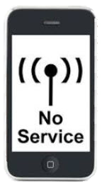 no cell service