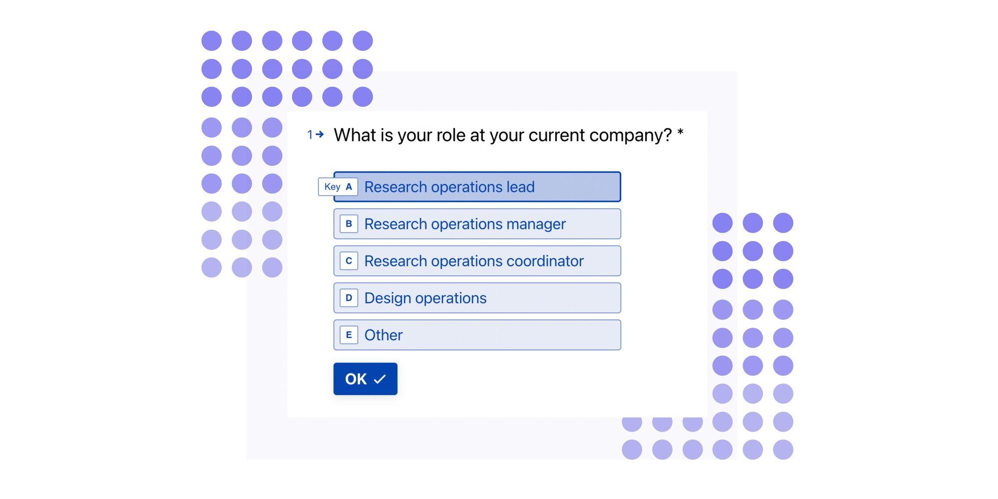 Screener survey question example