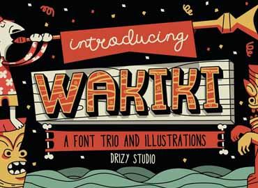 Wakiki Layered Typeface Font