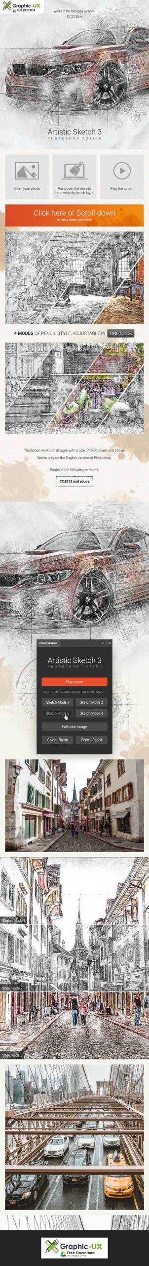 Artistic Sketch 3 Photoshop Action