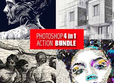 Photoshop 4in1 Actions Bundle V5