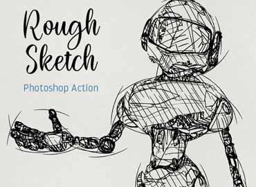 Rough Sketch Photoshop Action