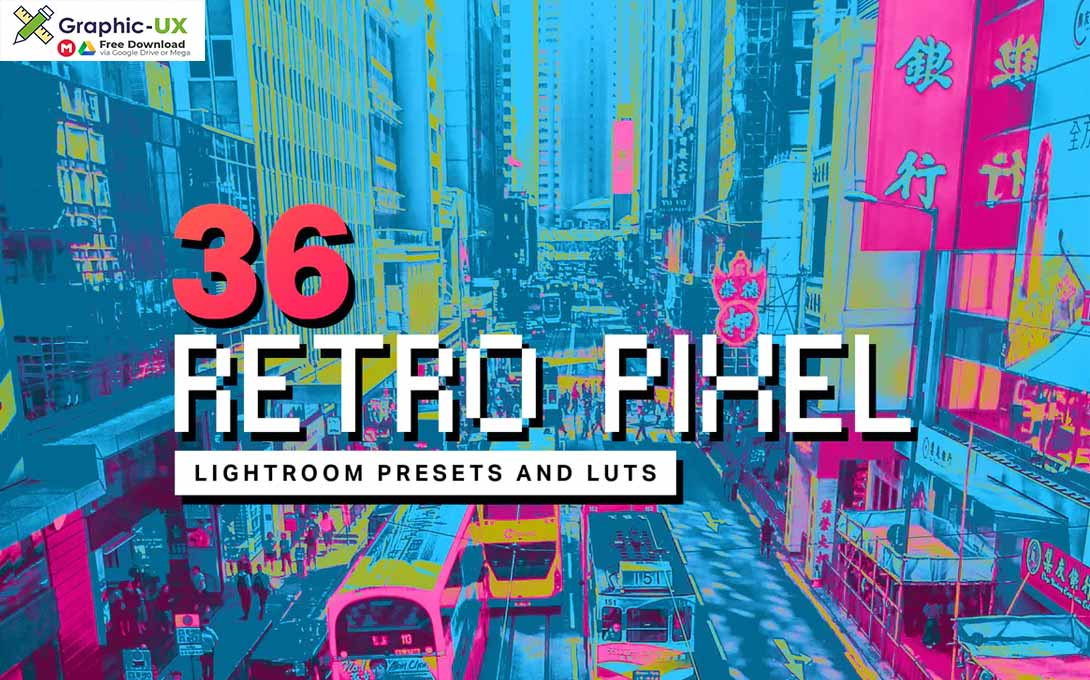 36 Retro Pixel Lightroom Presets and LUTs