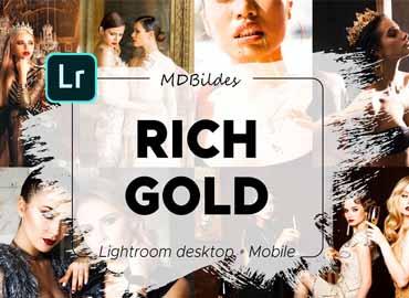 Lightroom Preset, RICH GOLD, Mobile
