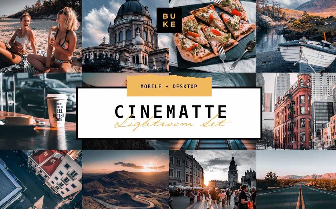 4 Cinematic Lightroom Presets Pack