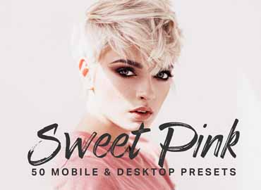 50 Sweet Pink Lightroom Presets LUTs