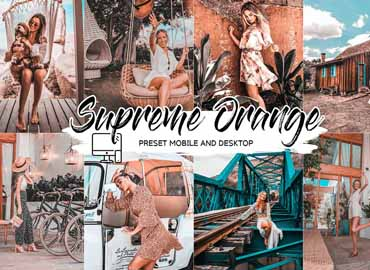 SUPREME ORANGE LIGHTROOM PRESETS