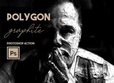 Polygon Graphite Photoshop Action