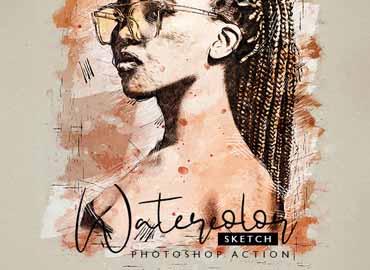 Watercolor Sketch - Photoshop Action